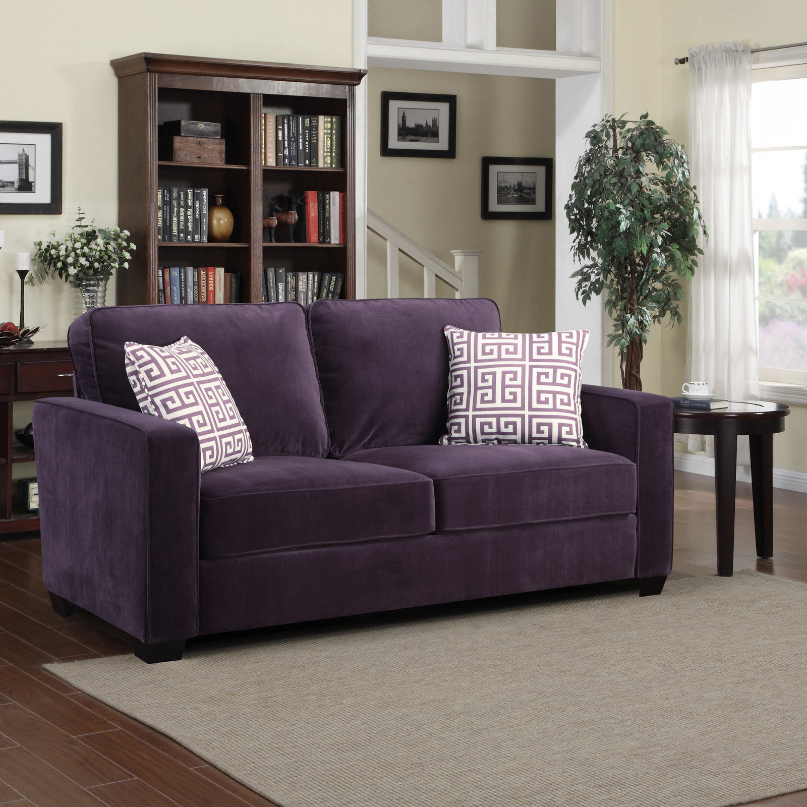 Lilac Sofa Bed | Purple Sofa | Living Room With Purple Sofa