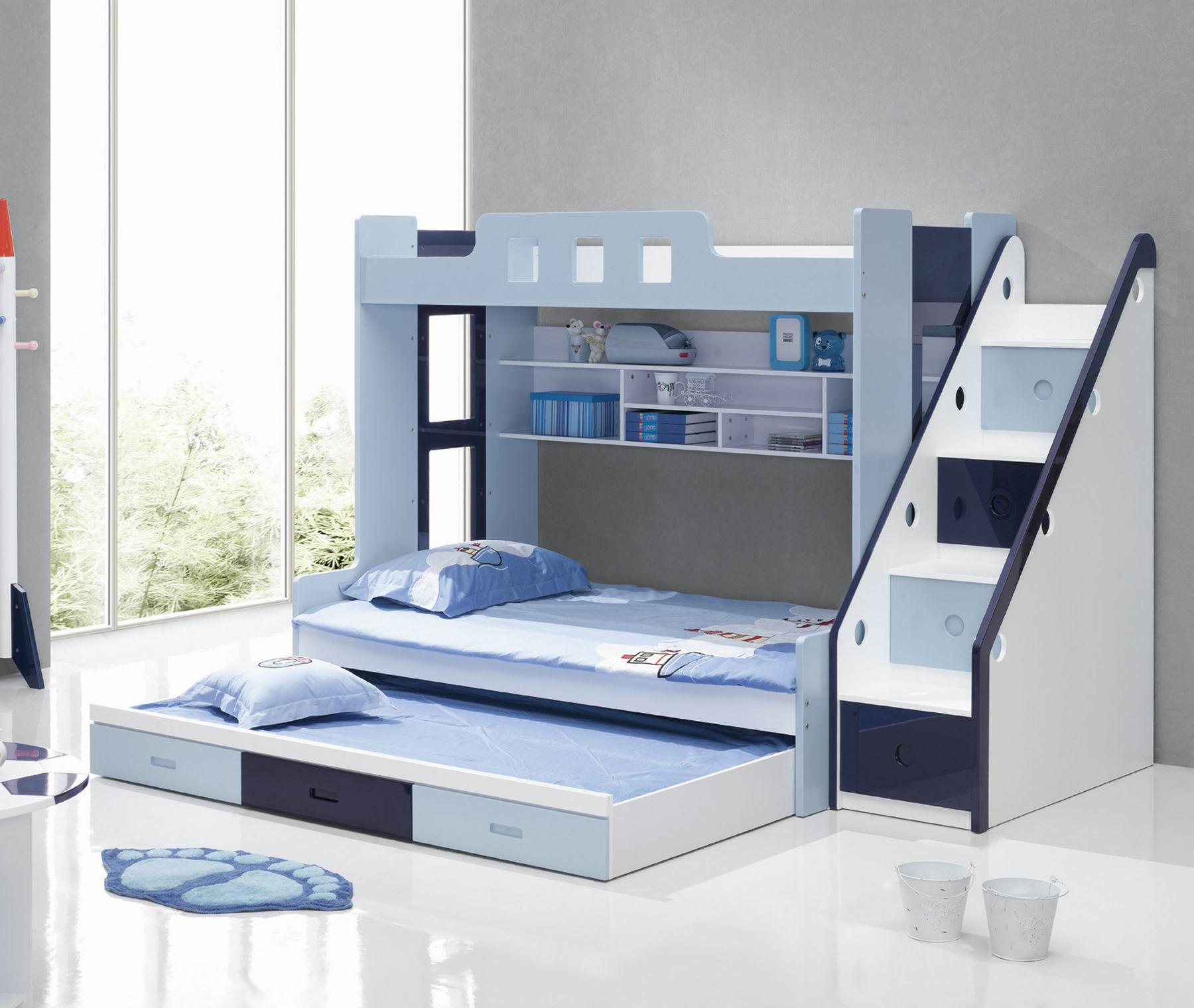 Incredible Style and Modern Bunk Beds for Kids Bedroom: Loft Bed With Trundle | Full Over Full Size Bunk Beds | Modern Bunk Beds