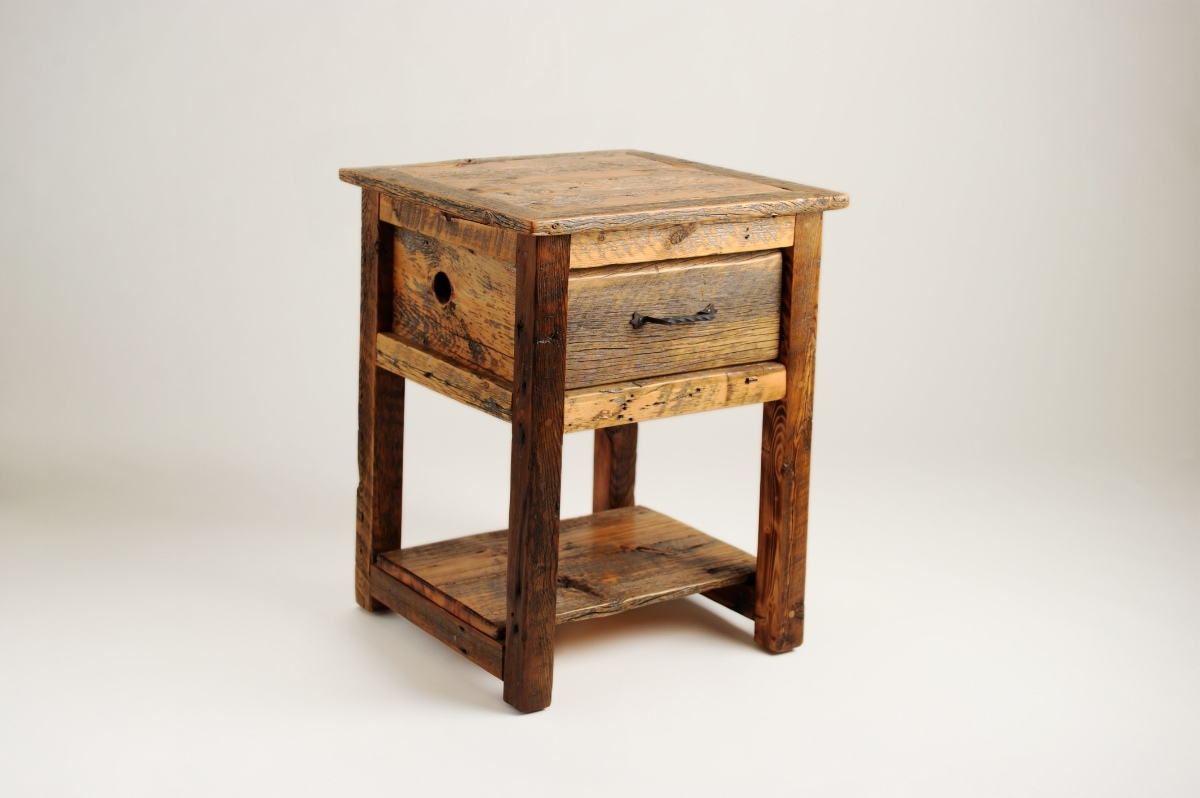 Lovable Rustic Nightstand | Lovable Dark Oak Bedside Table