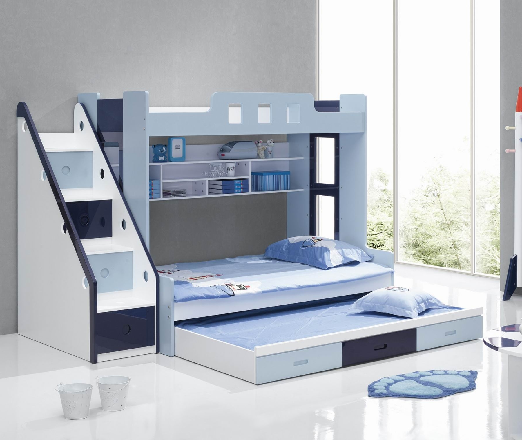 Low Bunk Beds With Storage | Modern Bunk Beds | Modern Bunk Beds