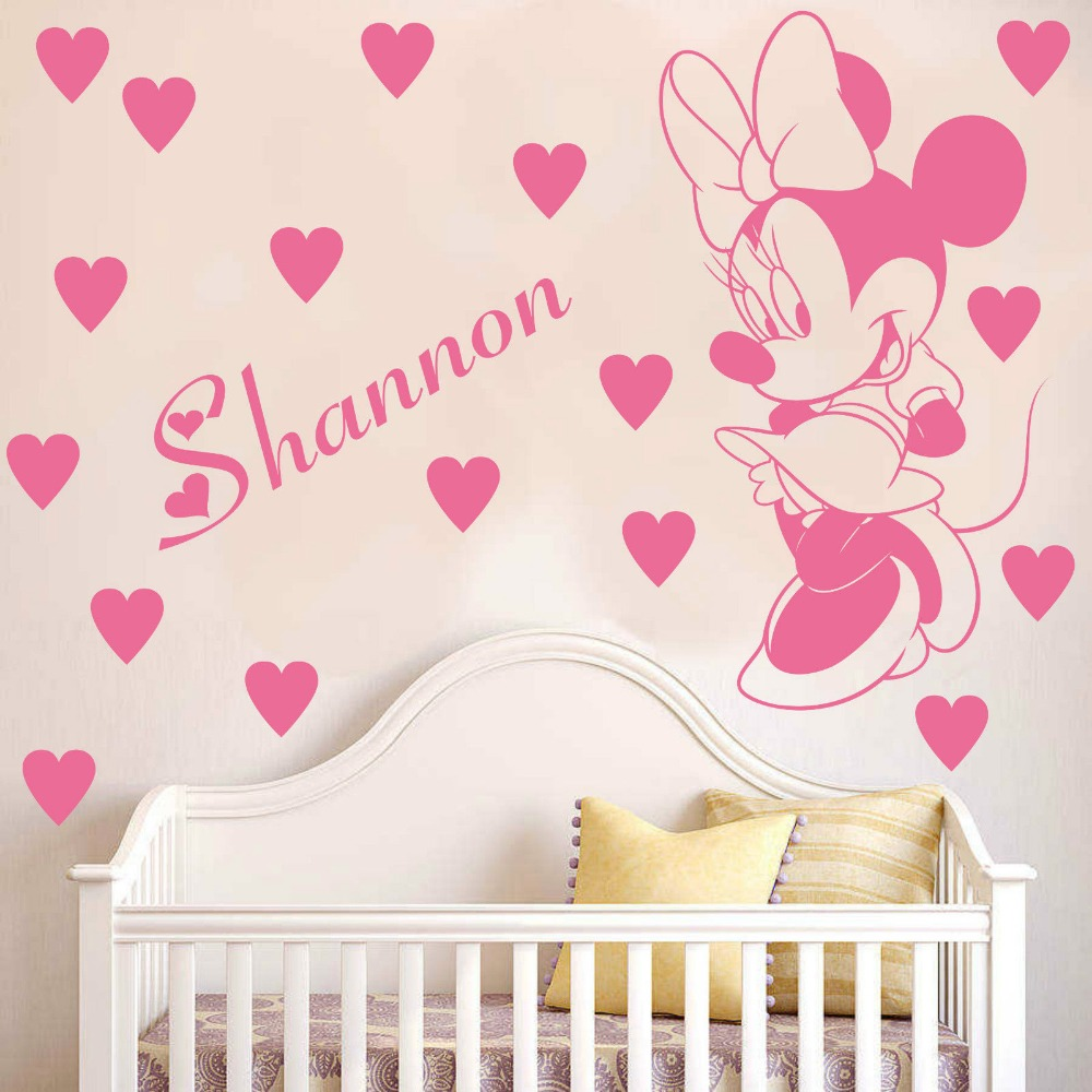 Mickey and Minnie Mouse Home Decor | Mickey and Minnie Decals | Minnie Mouse Wall Decor