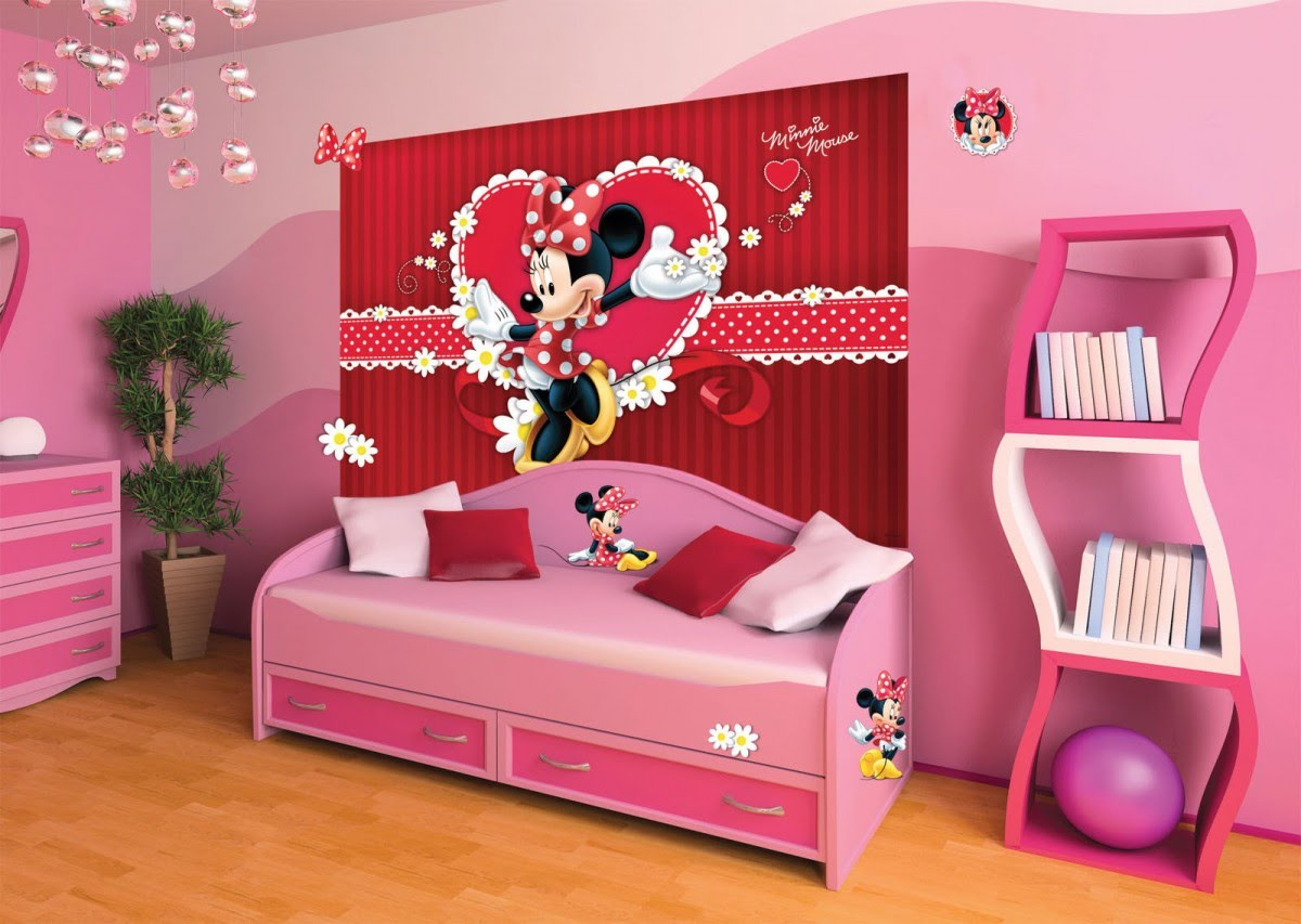 Mickey and Minnie Mouse Wall Decals | Minnie Mouse Chest of Drawers | Minnie Mouse Wall Decor