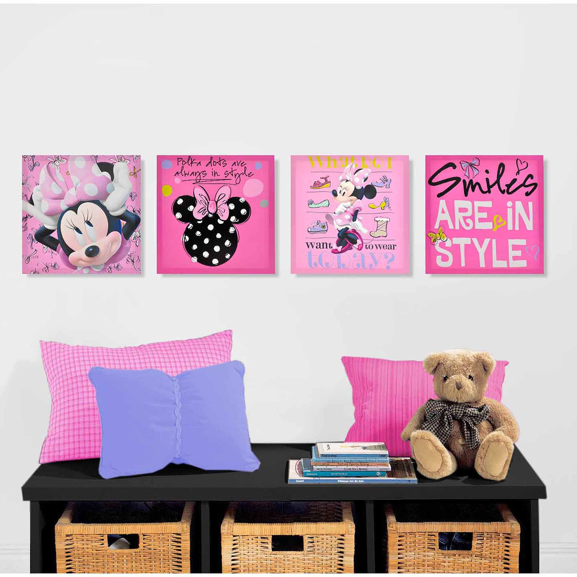 Mickey and Minnie Room Decor | Personalized Minnie Mouse Wall Decal | Minnie Mouse Wall Decor