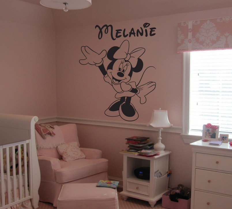 Mickey And Minnie Wall Decor | Mickey Mouse Wall Decals Removable | Minnie Mouse Wall Decor