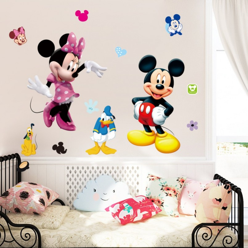 Mickey Mouse Wall Decorations | Minnie Mouse Bowtique Wall Decals | Minnie Mouse Wall Decor