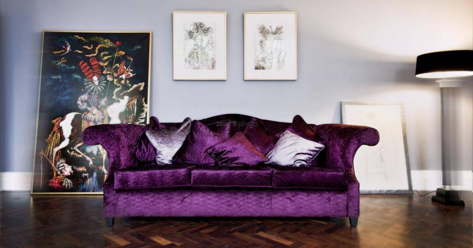 Mini Couches for Sale | Purple Sofa | Eggplant Colored Couch