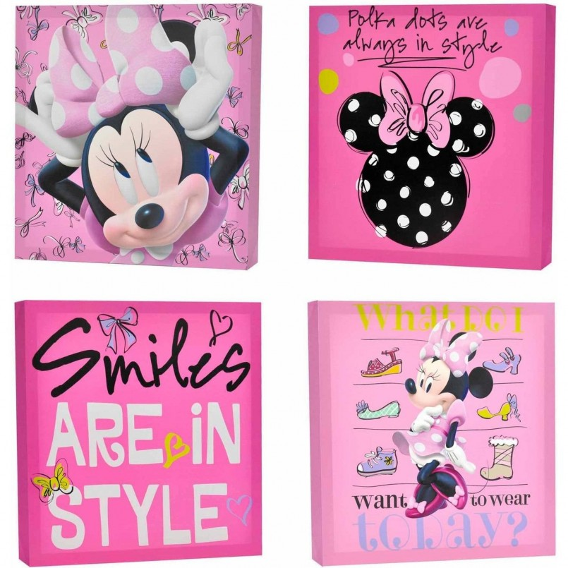 Minnie Mouse Bedroom Accessories | Minnie Mouse Wall Decor | Mickey Mouse Vinyl Wall Decal