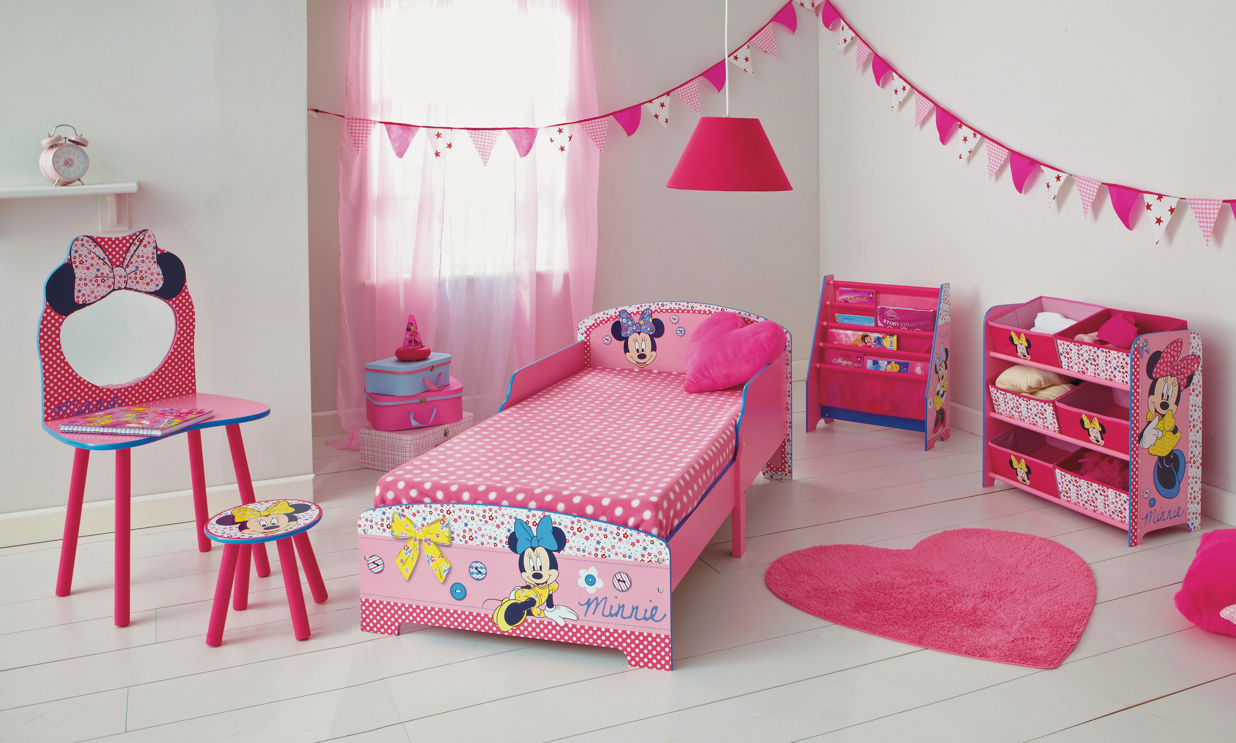 Minnie Mouse Chest of Drawers | Minnie Mouse Toddler Bed with Storage | Minnie Mouse Wall Decor