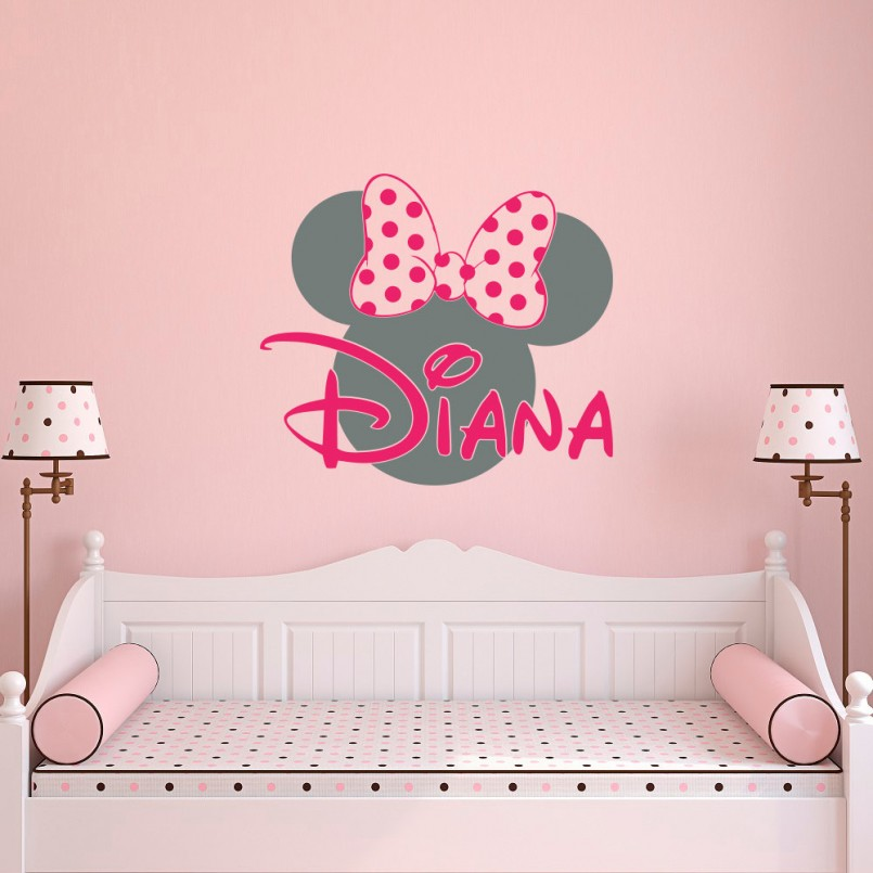 Minnie Mouse Theme Room | Minnie Mouse Wall Decor | Minnie Mouse Rooms