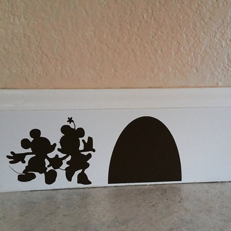 Minnie Mouse Toddler Bed With Storage | Minnie Mouse Vinyl Stickers | Minnie Mouse Wall Decor