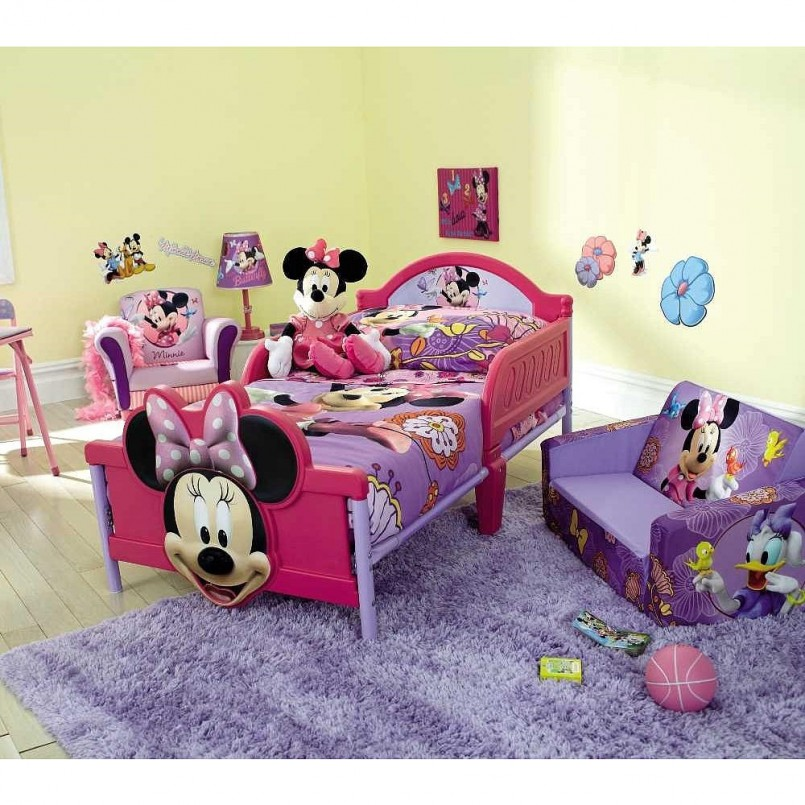 Minnie Mouse Toddler Bed With Storage | Minnie Mouse Wall Decor | Minnie Mouse Theme Room