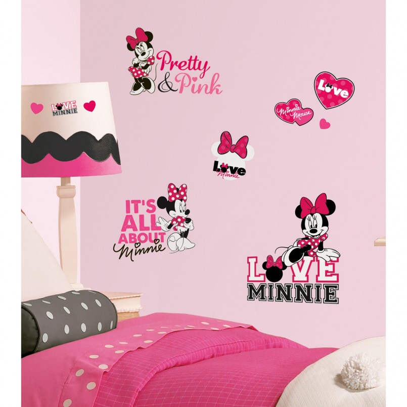 Minnie Mouse Vinyl Wall Art | Minnie Mouse Wall Decor | Minnie Mouse Wall Decorations