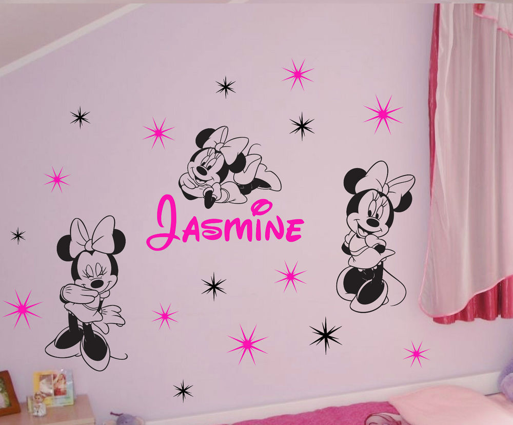 Minnie Mouse Wall Decals Walmart | Minnie Mouse Wall Decor | Minnie Mouse Bedrooms