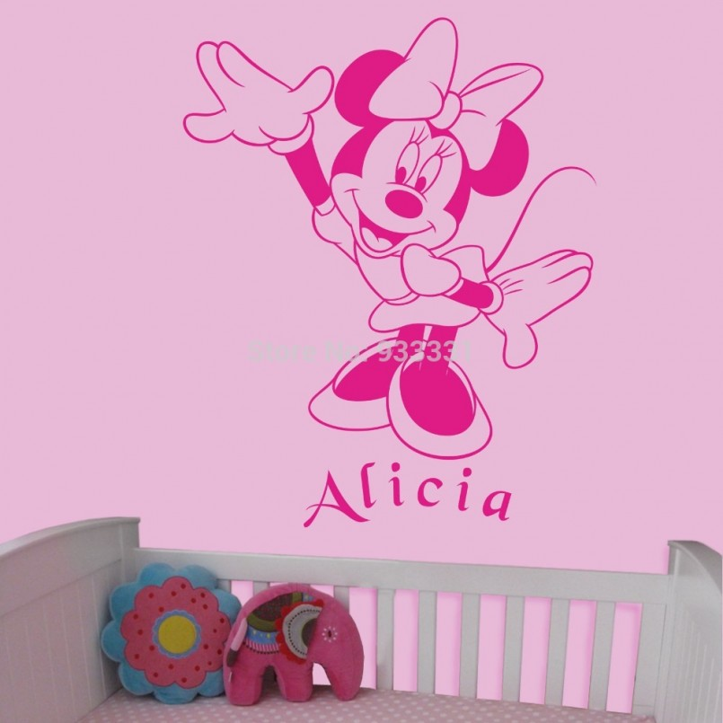 Minnie Mouse Wall Decor | Mickey Mouse Wall Decals Removable | Mickey Mouse Nursery Wall Decor