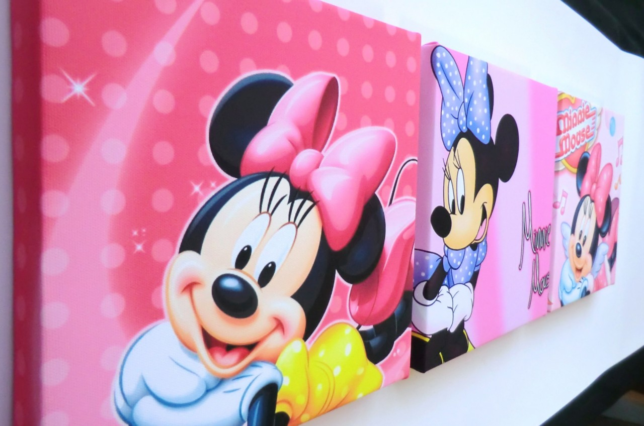 Minnie Mouse Wall Hangings | Minnie Mouse Wall Decor | Mickey Mouse Wall Decals Removable