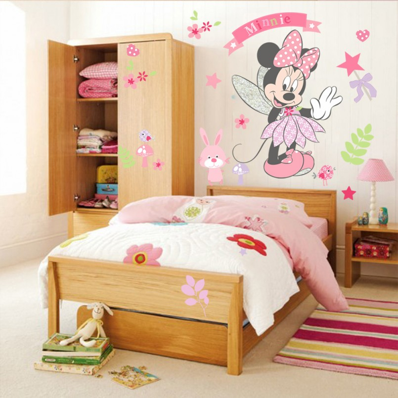 Minnie Wall Decals | Minnie Mouse Bedroom Set | Minnie Mouse Wall Decor