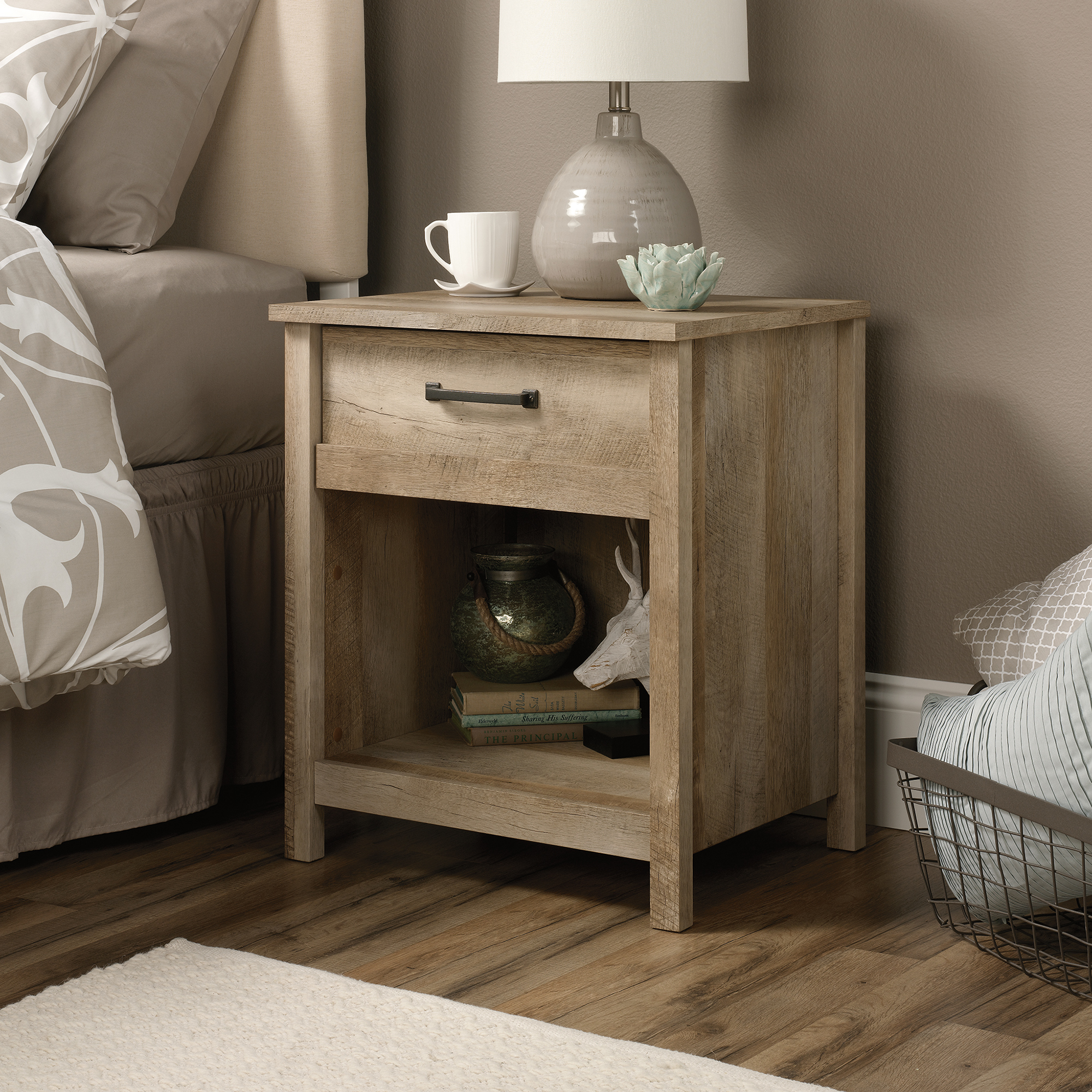 Inspire Your Home with Charming Rustic Nightstand: Miraculous Houzz Bedside Tables | Dazzling Rustic Nightstand
