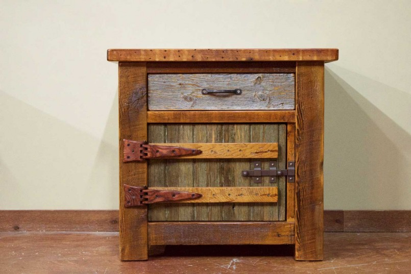 Miraculous Reclaimed Wood Bedside Table | Pretty Rustic Nightstand