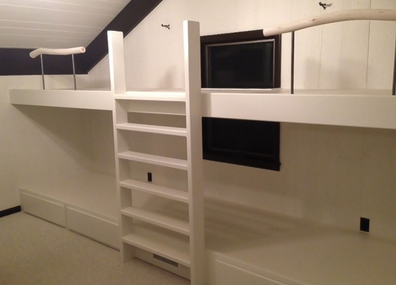 Modern Bunk Bed With Desk | L Shaped Loft Bunk Beds | Modern Bunk Beds