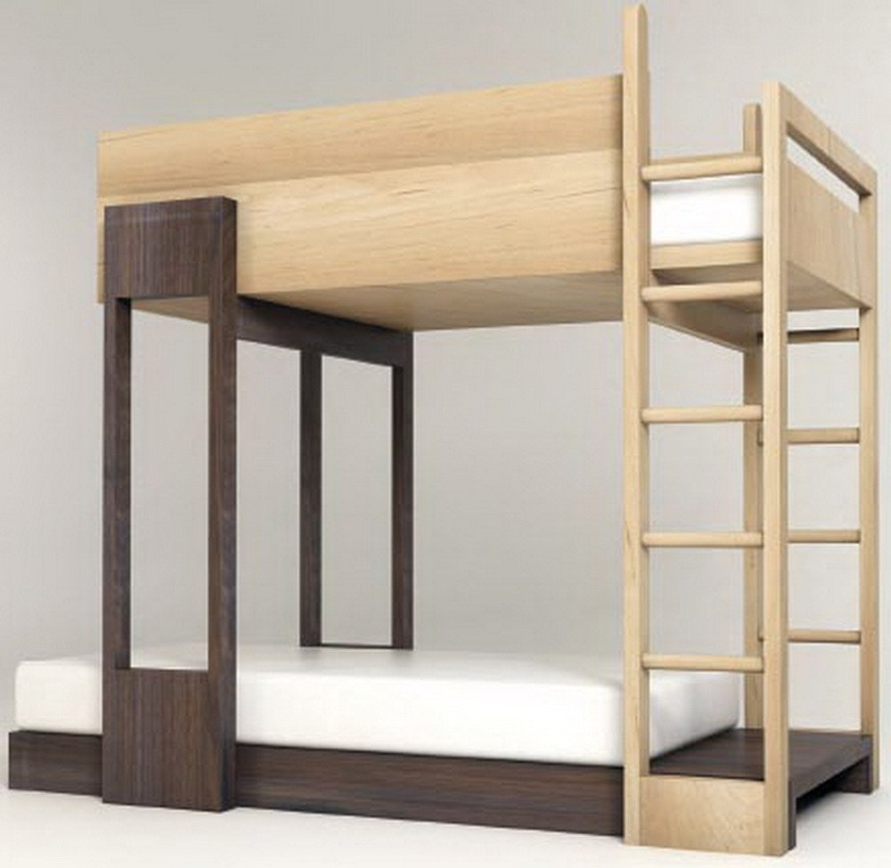 Modern Bunk Beds | Bunk Bed With Open Bottom | Loft Bed With Trundle