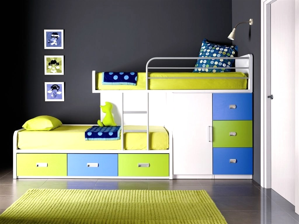 Incredible Style and Modern Bunk Beds for Kids Bedroom: Modern Bunk Beds | Bunk Trundle Bed | Bunk Beds With Stairs And Desk