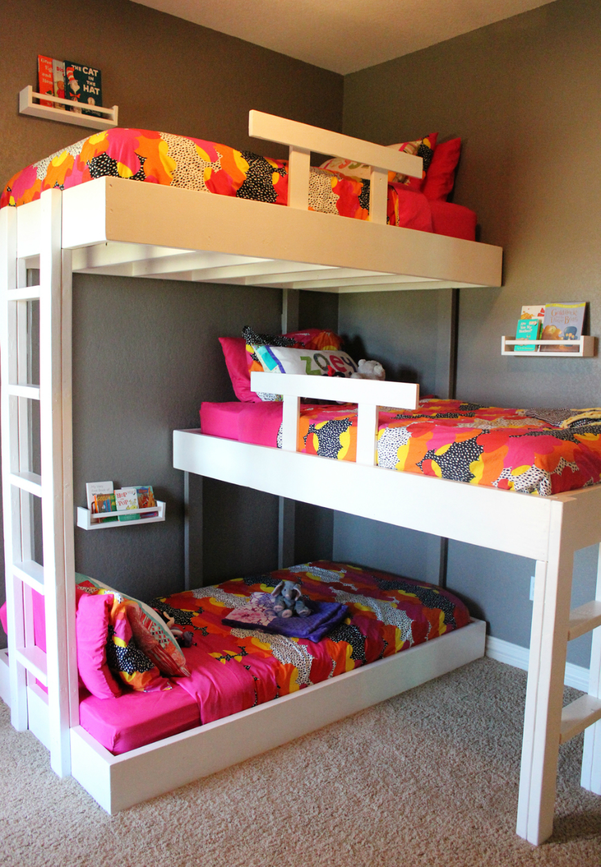 Incredible Style and Modern Bunk Beds for Kids Bedroom: Modern Bunk Beds | Teenage Bunk Beds | Full Size Junior Loft Bed