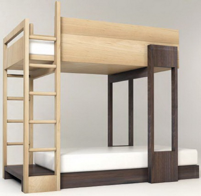 Modern Bunk Beds | White Full Over Full Bunk Beds | Low Profile Bunk Bed