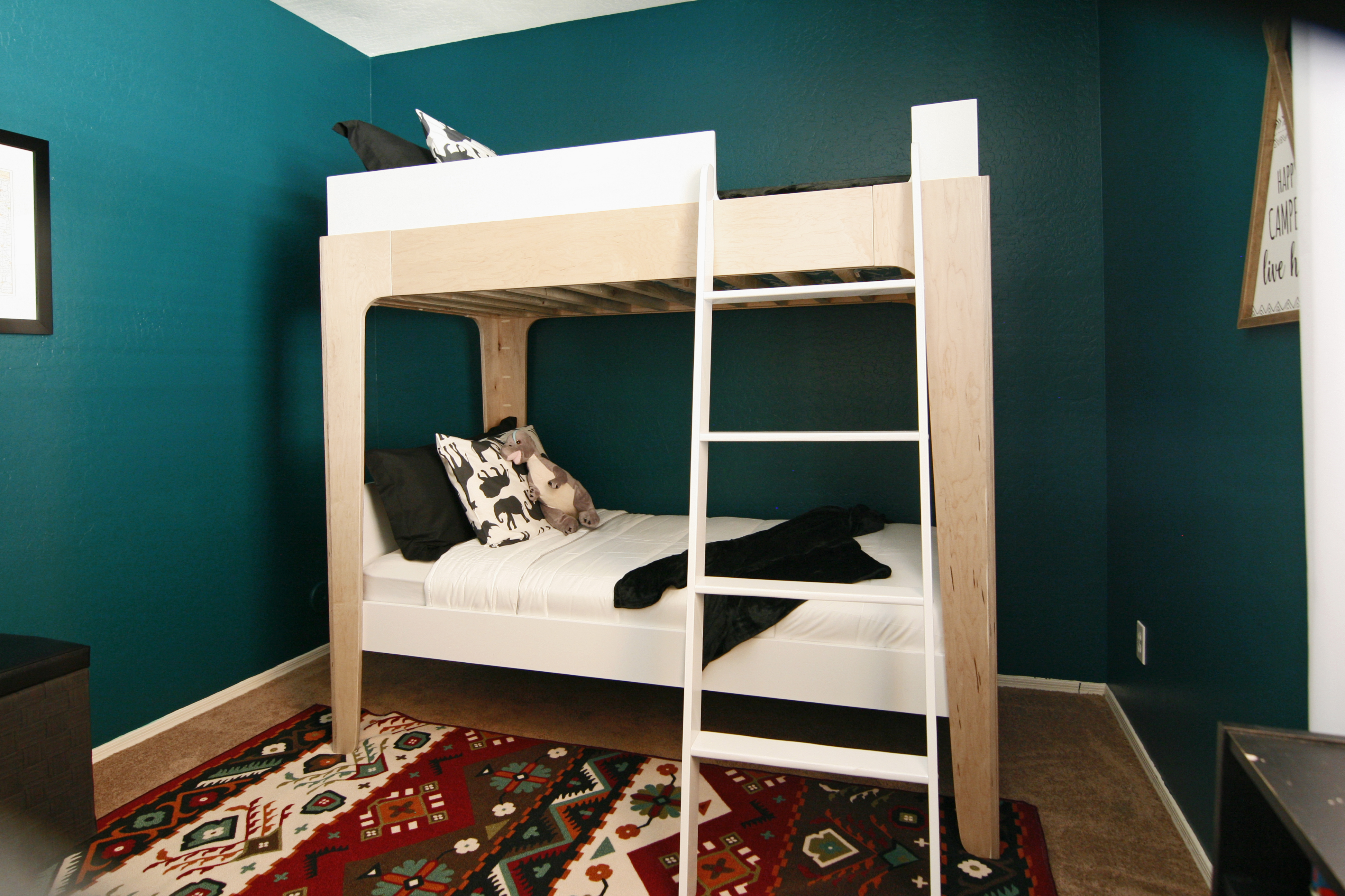 Modern Trundle Bed | Twin Low Loft Bed | Modern Bunk Beds