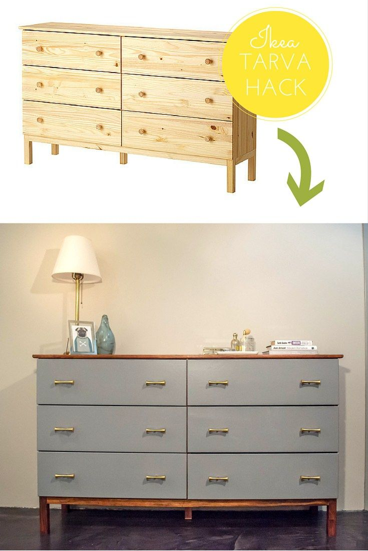 Nightstand with Outlets | Tarva Nightstand | Ikea Tarva