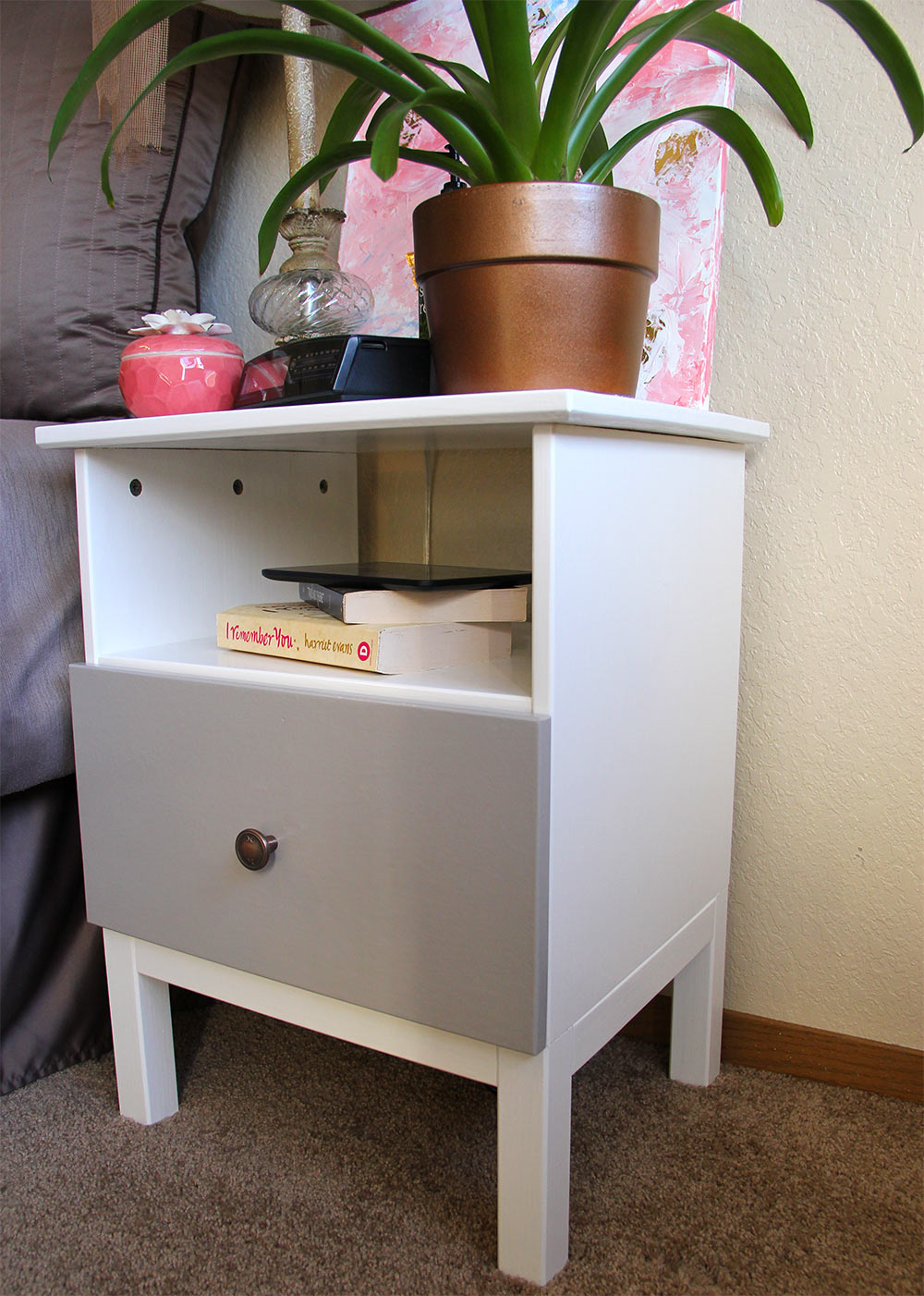 Nightstand With Outlets | Tarva Nightstand | Night Stands Big Lots