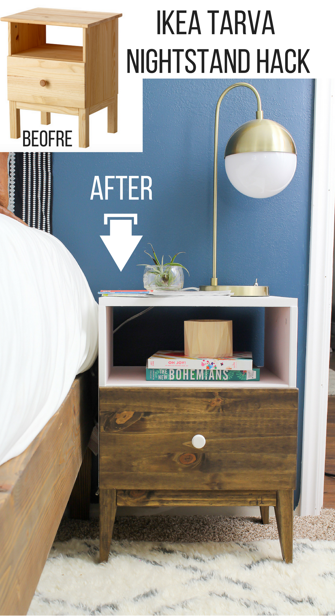 Nightstands Under $100 | Tarva Nightstand | Mirrored Nightstand Ikea