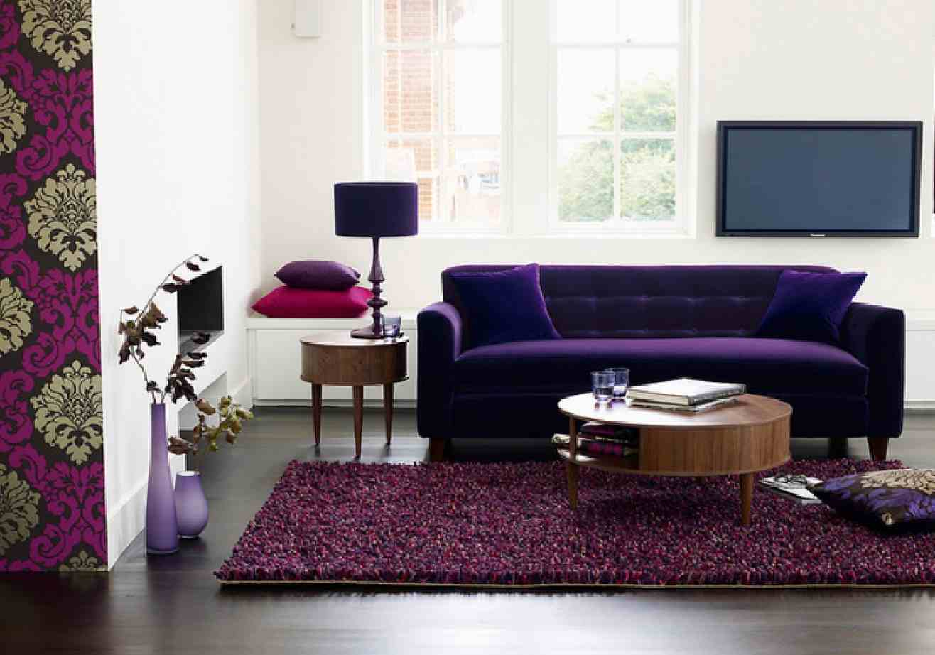 Plum Colored Sofa Purple Eggplant Couch