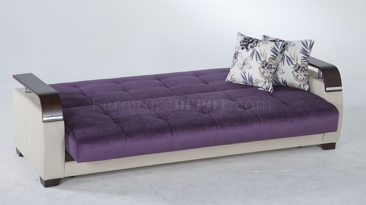 Plum Colored Sofa | Purple Sofa | Purple Velvet Chesterfield
