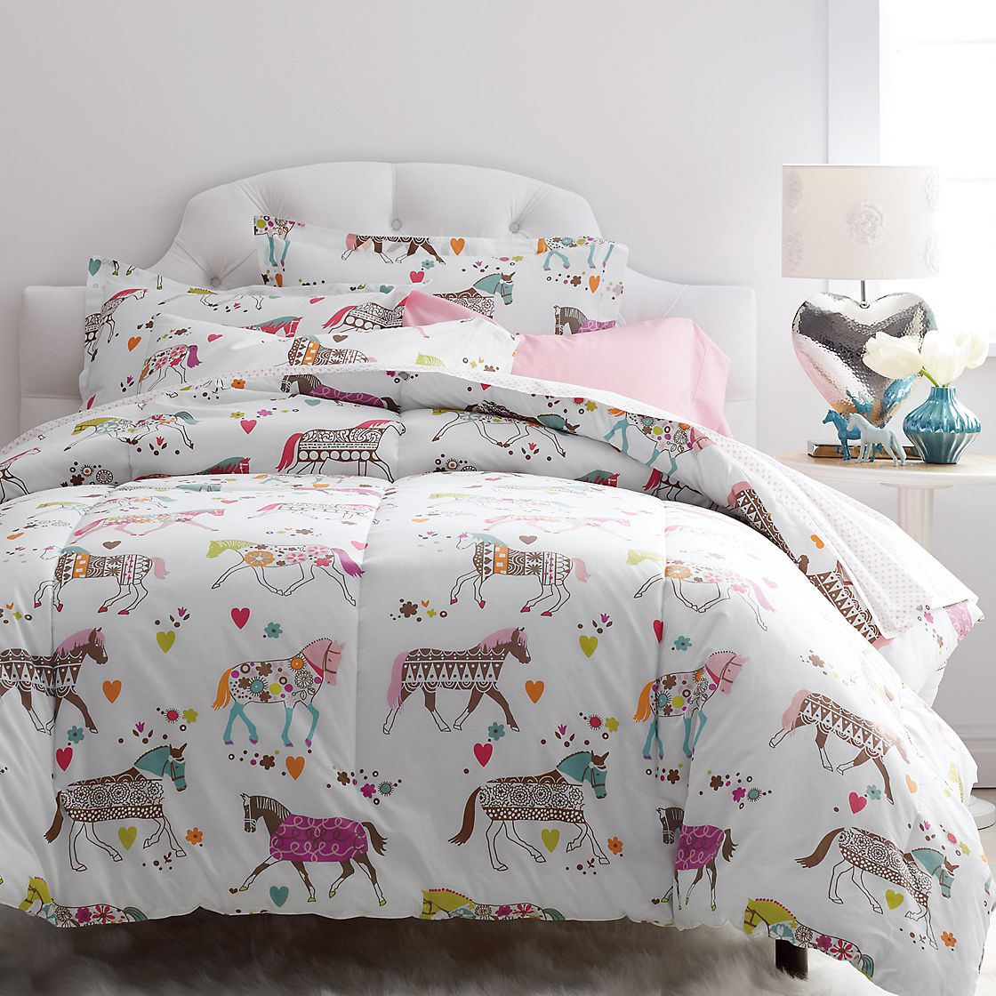 Pottery Barn Horse Bedding | Horse Bedding for Girls | Horse Themed Comforter Sets