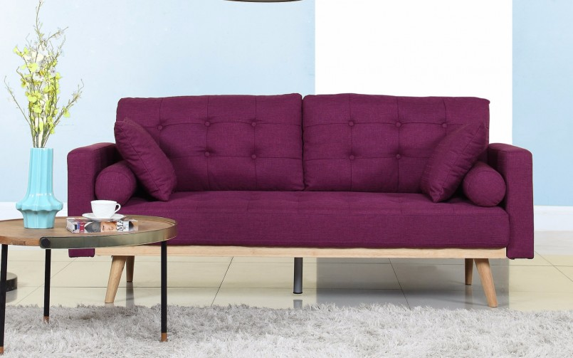 Purple Chaise Lounge Sale | Purple Sofa Set | Purple Sofa