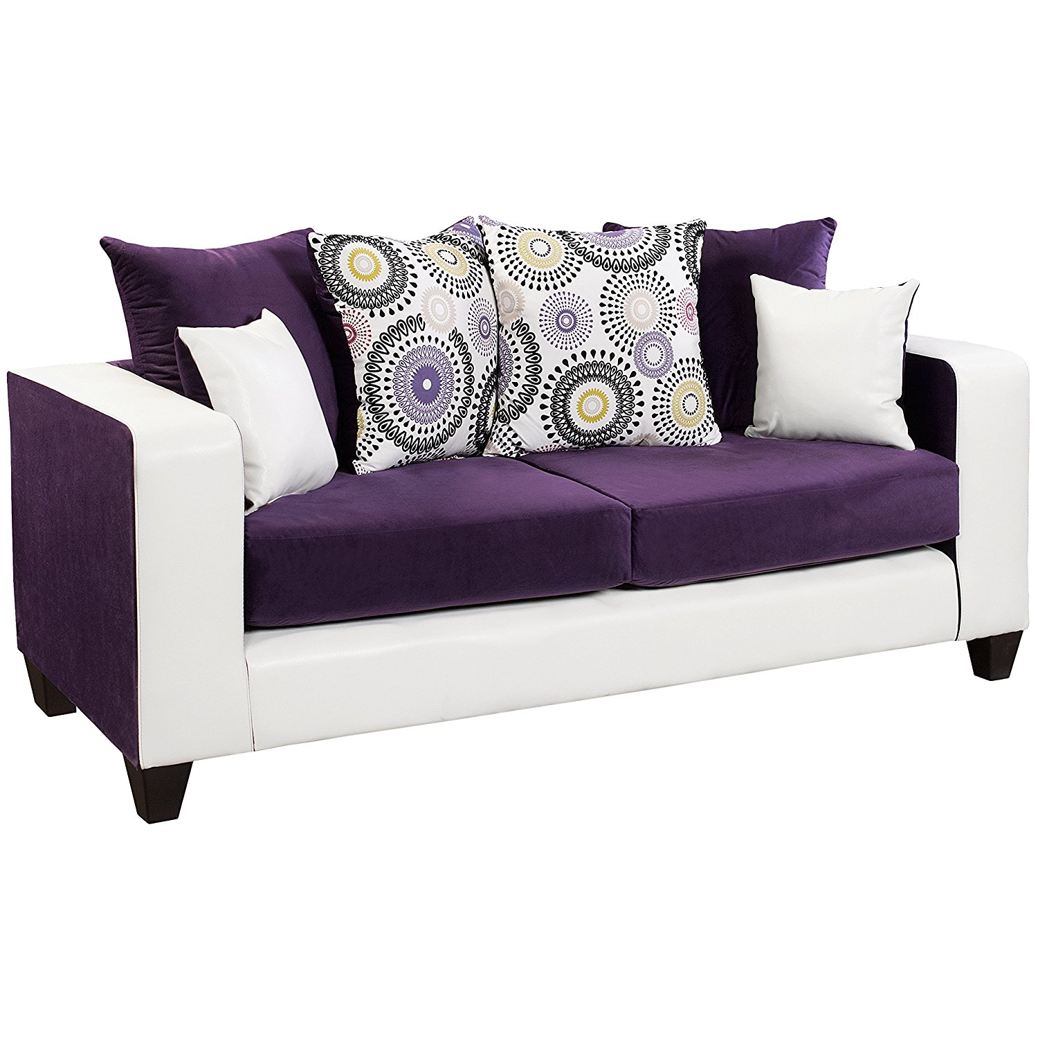 Purple Lounge Chair | Eggplant Couch | Purple Sofa