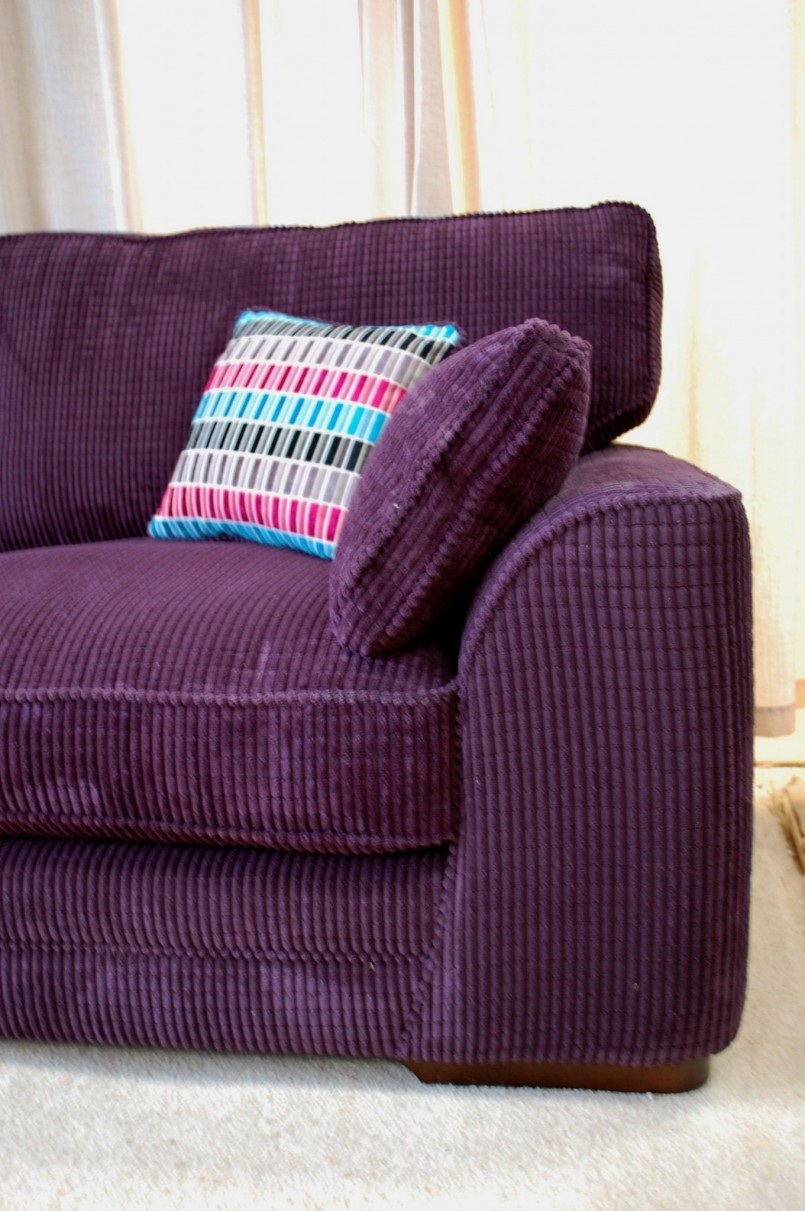 Purple Sofa | Chaise Lounge Purple | Eggplant Colored Couch