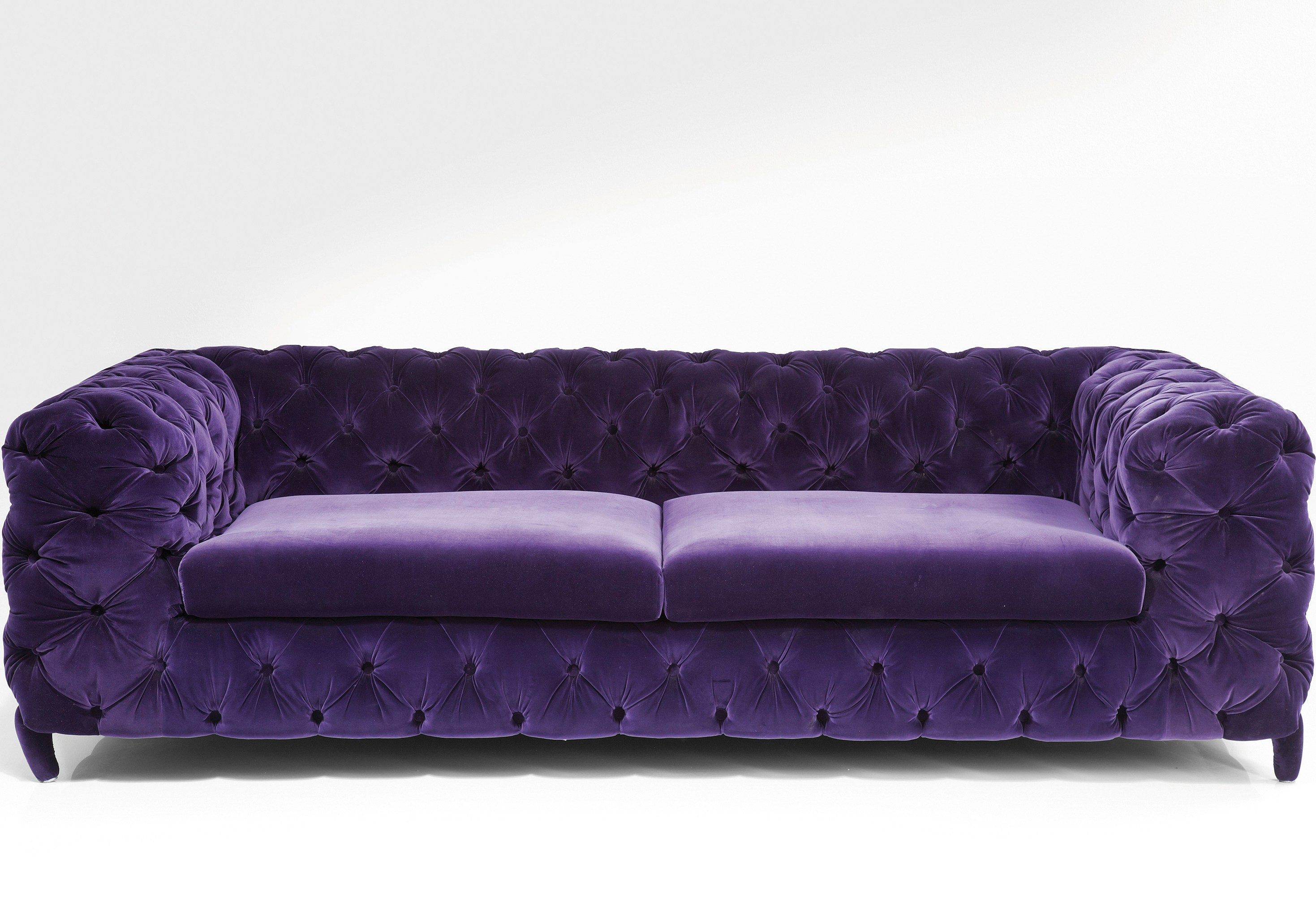 Purple Sofa Decorating Ideas | Mauve Leather Sofa | Purple Sofa