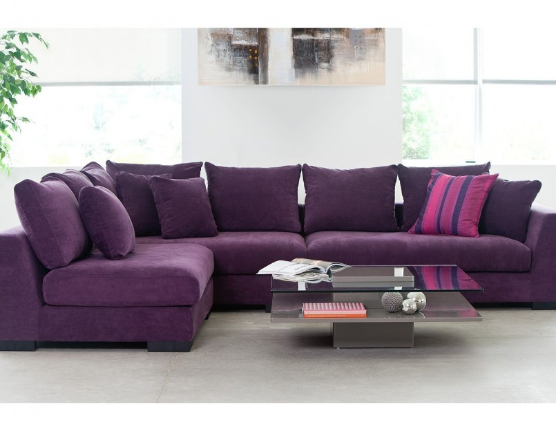 Purple Sofa | Living Room With Purple Sofa | Aubergine Couch