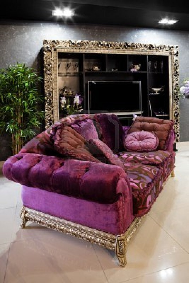 Warm Purple Sofa to Complete Your Living Room Decor: Purple Velvet Chesterfield Sofa | Purple Sofa | Purple Sofa Sleeper