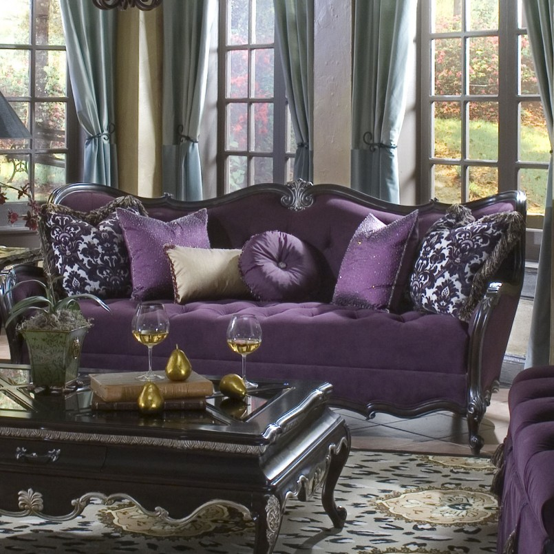 Purple Velvet Sofa For Sale | Purple Leather Recliner | Purple Sofa
