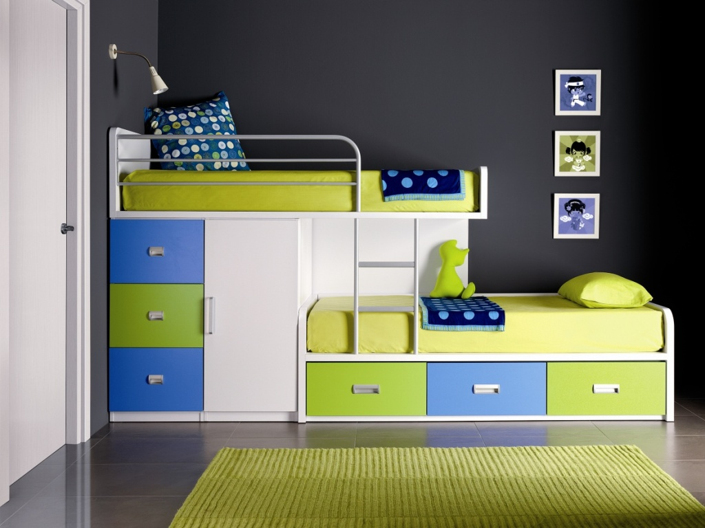Incredible Style and Modern Bunk Beds for Kids Bedroom: Queen Loft Bed | Modern Bunk Beds | Bunk Bed Removable Ladder