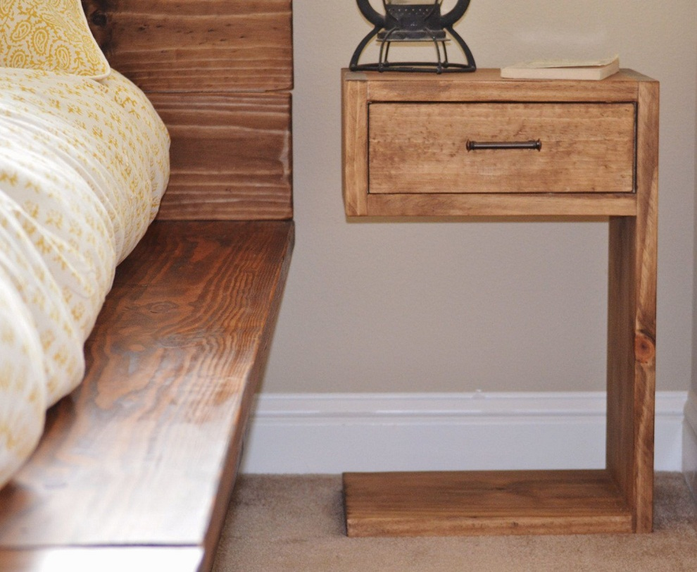 Inspire Your Home with Charming Rustic Nightstand: Redoubtable Dark Oak Bedside Table | Lovable Rustic Nightstand