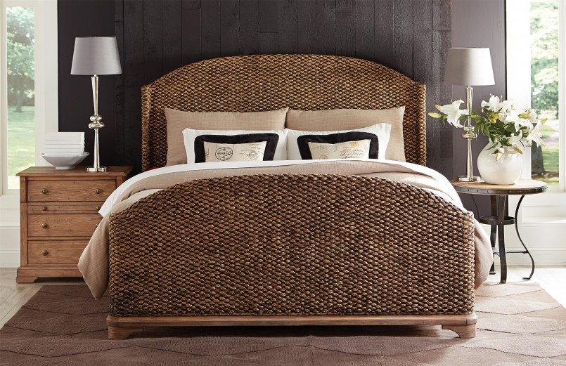 Seagrass Queen Bed | Seagrass Headboard King | Seagrass Pottery Barn