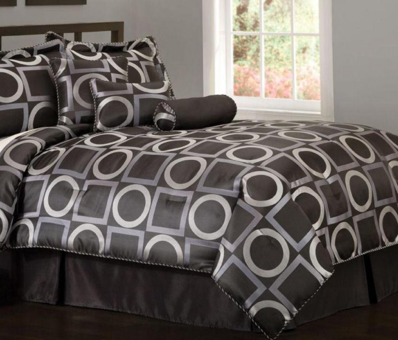 info ideas size home design black jacquard and gold full brown ecfq king sets comforter