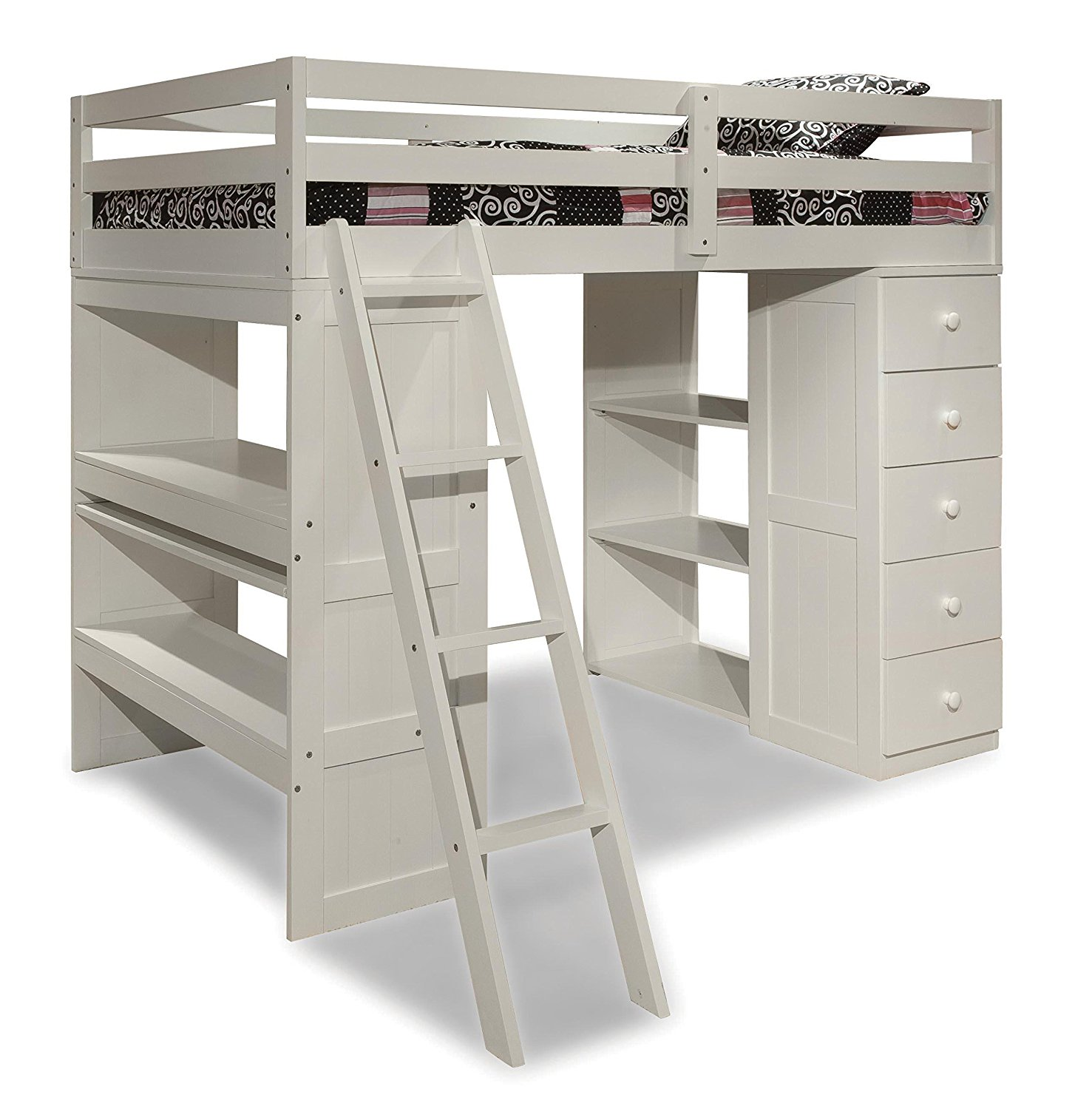 Sensational Canwood Loft Bed | Surprising Canwood Whistler Storage Loft Bed with Desk Bundle White  sc 1 st  Ondeckwithlucy.com & Bedroom: Innovative Canwood Loft Bed For Your Kids Bedroom Ideas ...