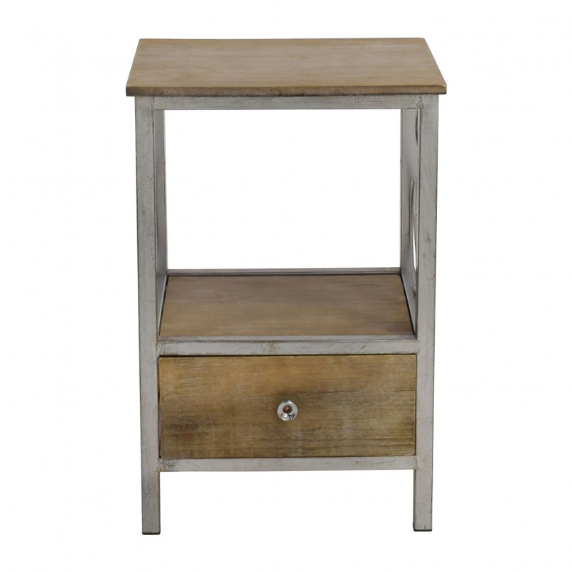 Stylish White Distressed Bedroom Furniture   Cool Rustic Nightstand