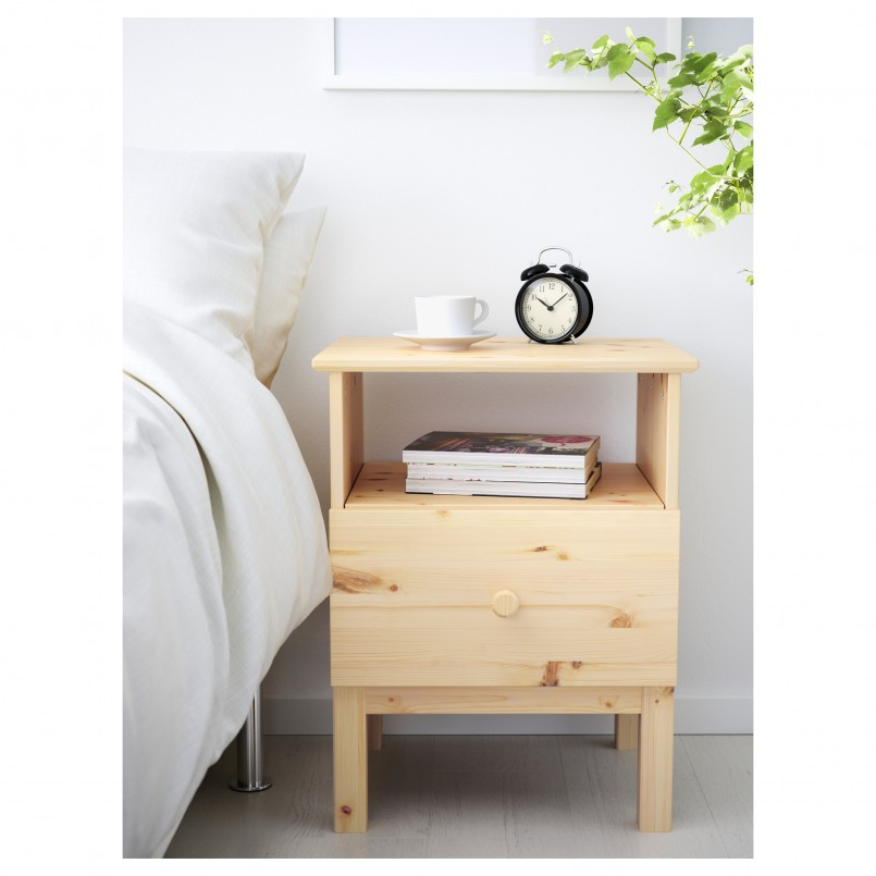 Tarva Nightstand | Ikea Side Tables With Drawers | Ikea White Bedroom Furniture