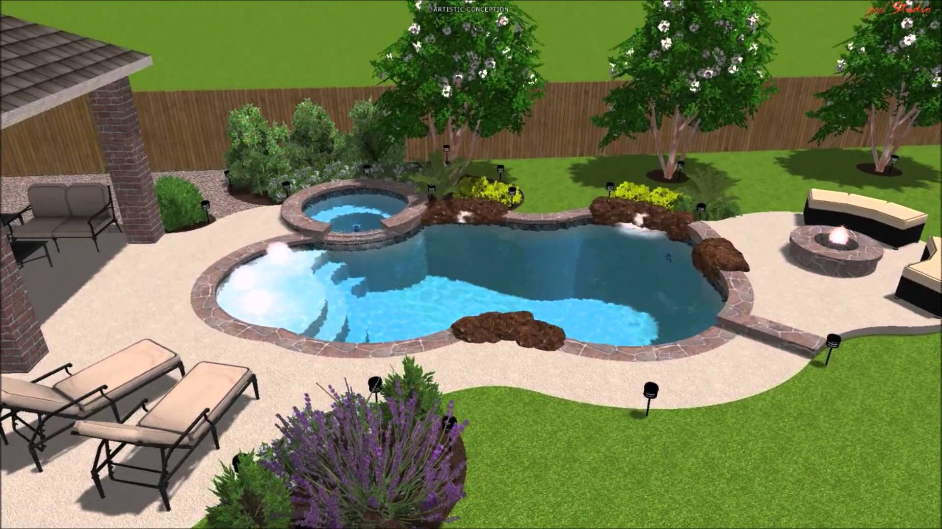 Backyard cool backyard pool designs for your outdoor for In ground pool backyard ideas