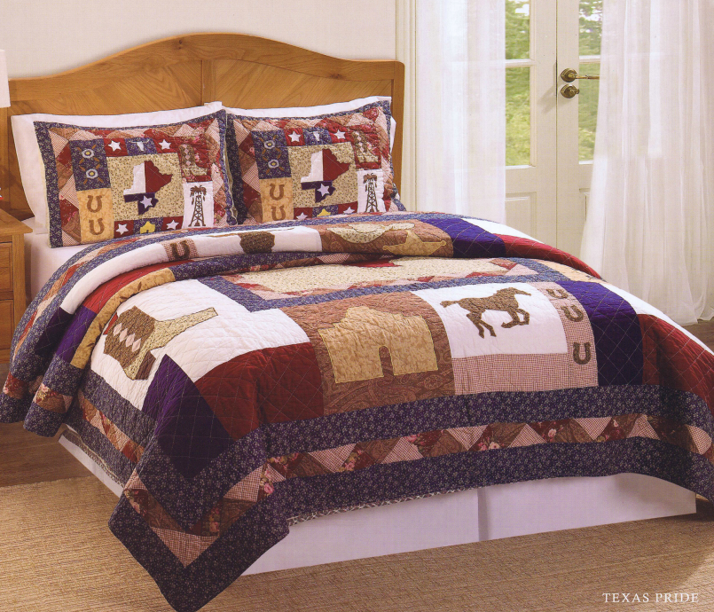 Twin Horse Comforter | Horse Quilts Bedding | Horse Bedding For Girls